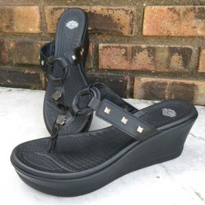 Size 10 Harley Davidson Wedge Sandals
